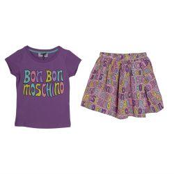 Purple T-Shirt and Skirt