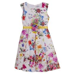 Multicolored Sleeveless Floral Dress Design