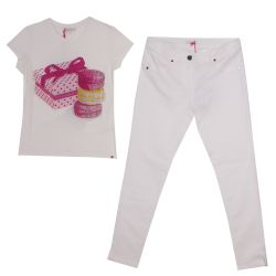 Miss Grant T-Shirt & Pants - White