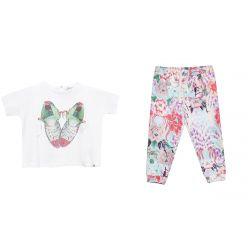 White T-Shirt & Floral Leggings
