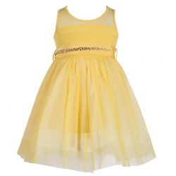 Monnalisa Dress & Belt - Yellow