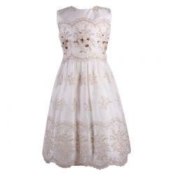 Lesy Dress - Golden White