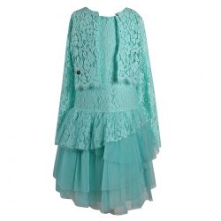 Aletta Dress With Cardigan - Green