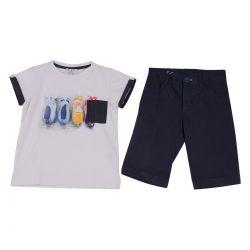 Aletta T-Shirt & Bermuda Shorts - White