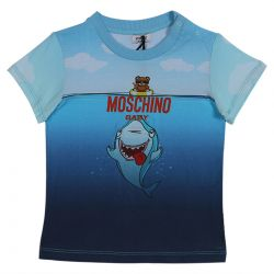 Blue T-Shirt with Shark and Bear Character
