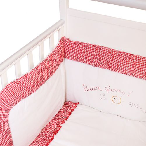 Red Checkered Bedding Cover Set