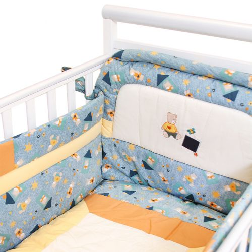 "Multicolored ""Teddy Bear"" Bedding Cover Set"