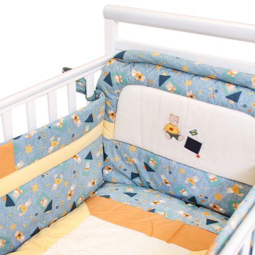 "Multicolored ""Teddy Bear"" Bedding Cover Set"