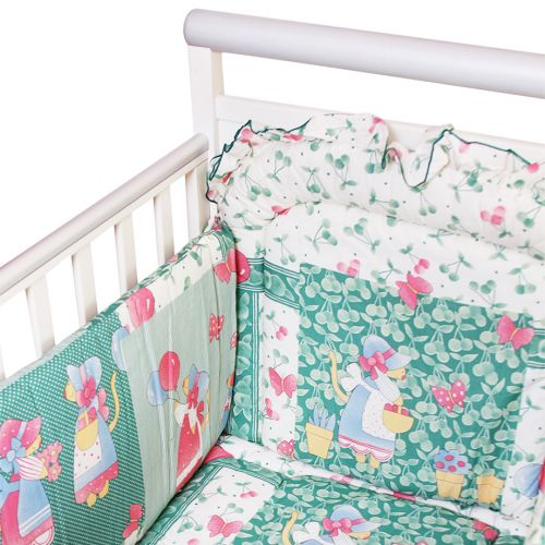 "Green ""Butterflies - Balloon"" Design Bedding Cover Set"