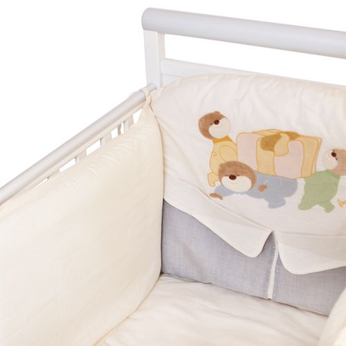 "Beige ""Teddy Bear Design"" Bedding Cover Set"