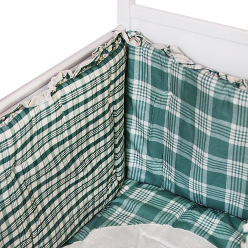 Green and White Checkered Design Bedding Cover Set
