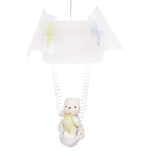 White Ceiling Lamp with Bear
