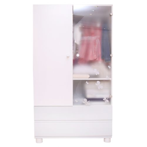 Wardrobe with Two Sliding Drawers and Double Door
