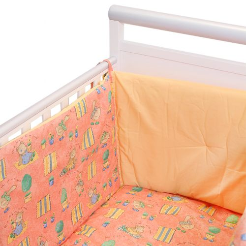 "Orange ""Teddy Bear - Goose"" Bedding Cover Set"