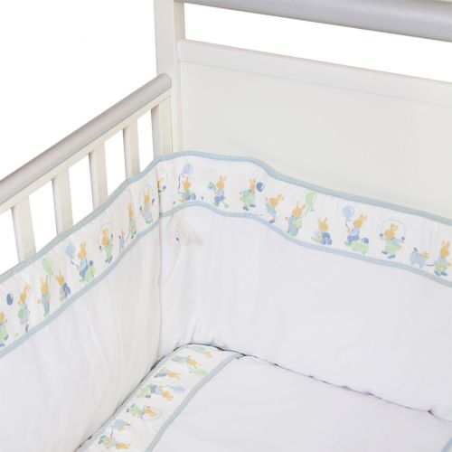"White with Blue Trim and ""Rabbit"" Bedding Cover Set"