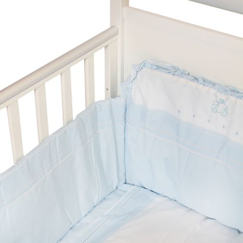 Blue  Bumper with Quilt Bedding Cover Set