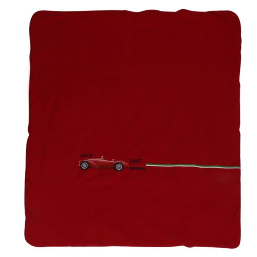 Red Blanket with Car Print