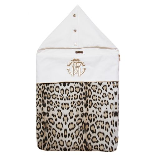 "White ""Leopard Print"" Sleeping Bag"
