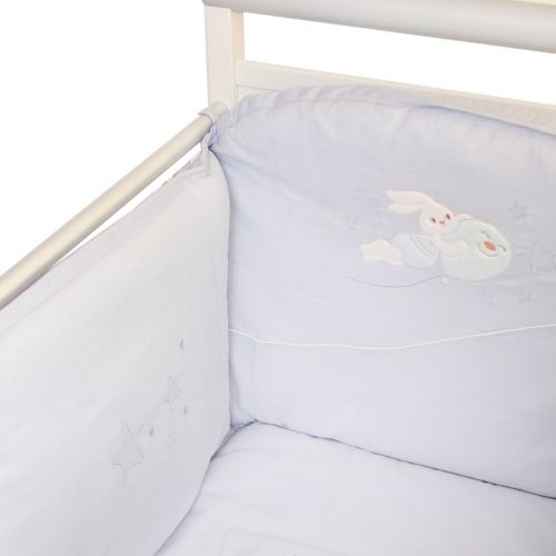 "Blue ""Rabbit-Balloon"" Bedding Cover Set"