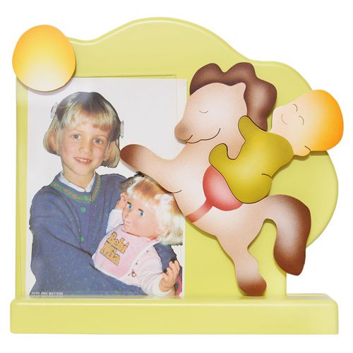 Yellow Baby & Horse Photo Frame