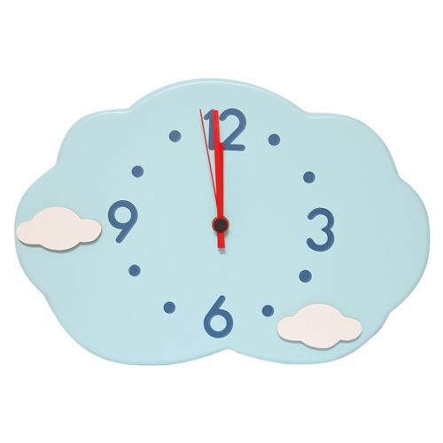 Blue Cloud Shape Clock