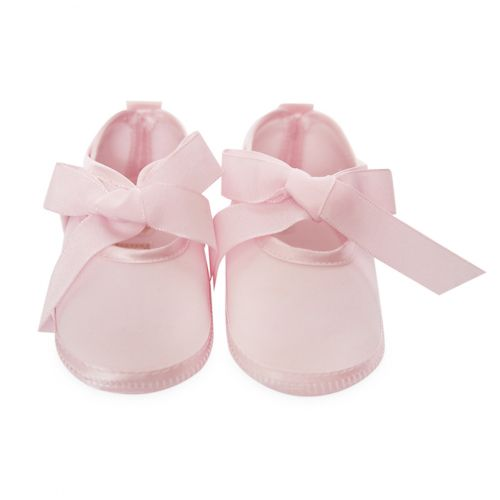 Pink Baby Shoes with Ribbon