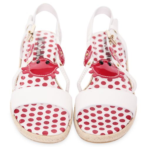 White Shoes with Red Polka Dots