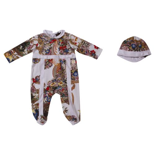 Multicolored Floral Pyjama with Hat
