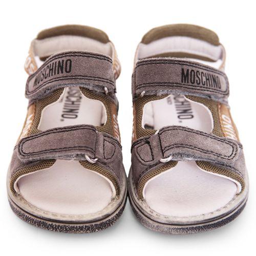 Grey and Khaki Sandals