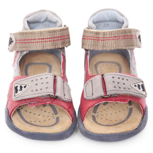 Multicolored Stitched Sandals