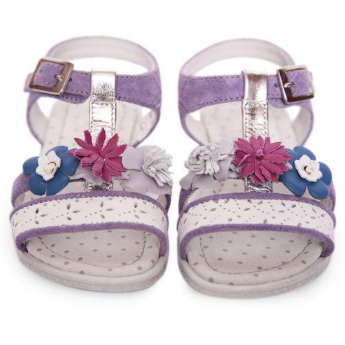 Purple Sandal with Floral Design
