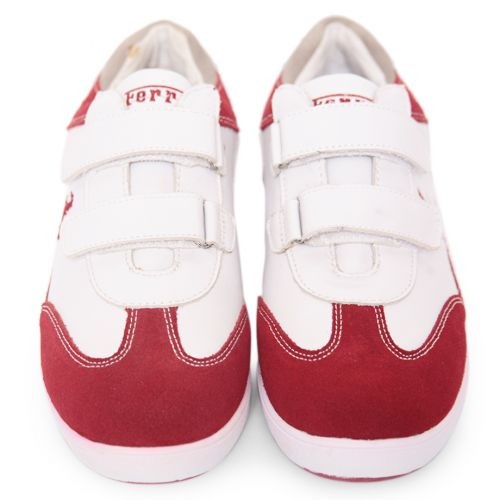 Red Shoes with Embroidered Logo