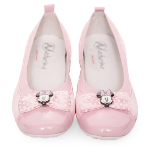 Pink Soft Shoes with Minnie Mouse