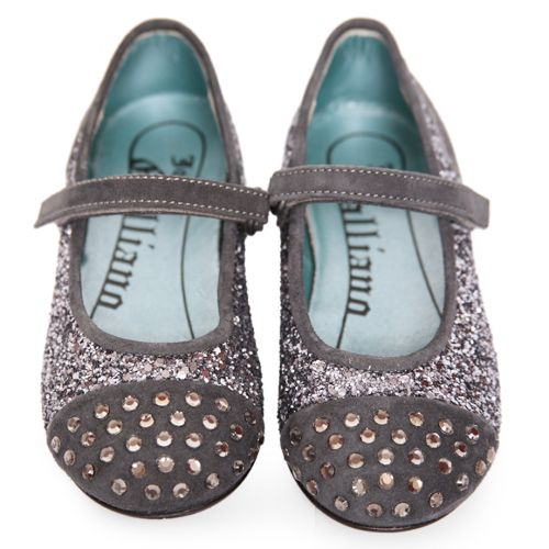 Dark Silver Studded Shoes