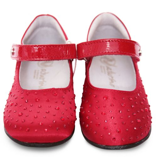 Red Shoes with Studded Embellishment