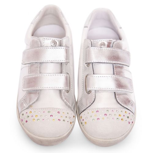 Silver Trainer with Studded Toe Cap