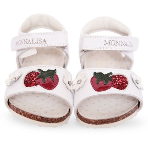 White Sandal with Strawberry Design