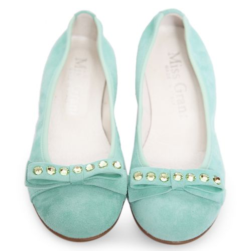 Green Mint Studded Shoes