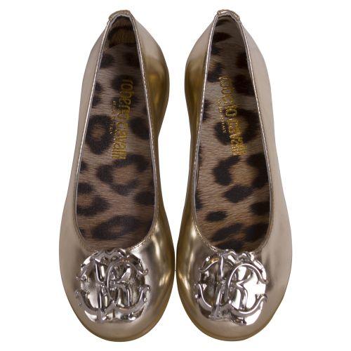 Gold Flat Shoes