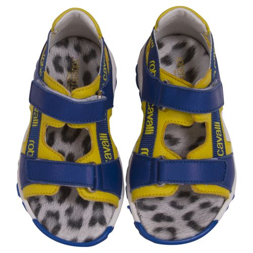 Blue Sandals with Yellow Linings