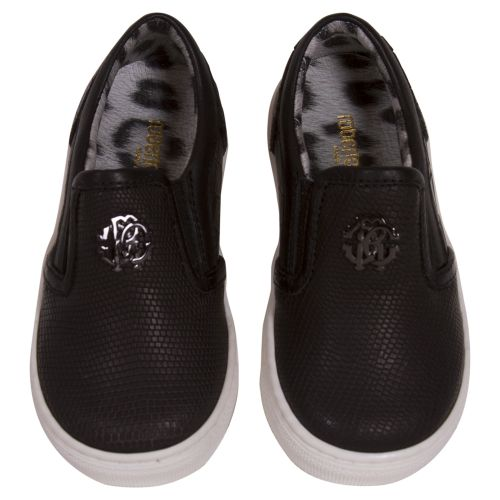 Black Sneakers with Attached Logo