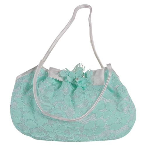 Mint Green Floral Print Handbag