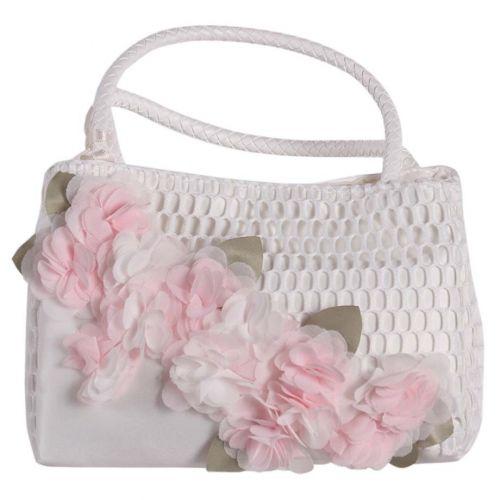 White Floral Handbag