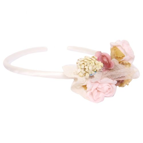 Pink Headband with Floral Design