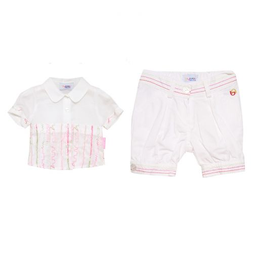 White Baby Top and Shorts