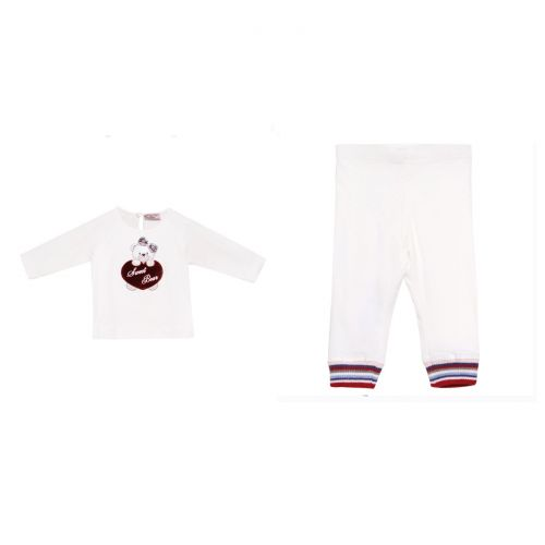 White Sweet-Bear Top & Pants