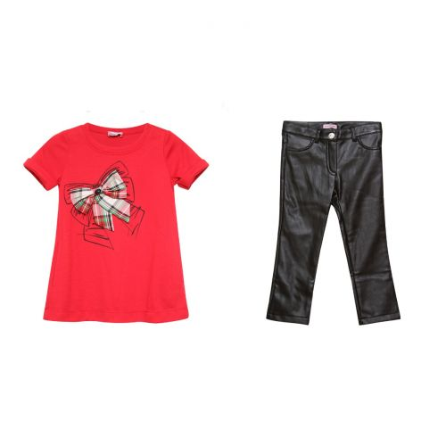 Red T-Shirt & Black Trousers