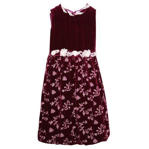 Royal Burgundy Red Velvet Dress
