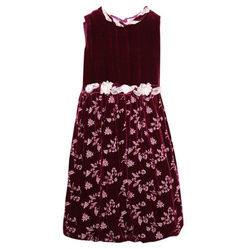 Royal Burgundy Red Velvet Dress