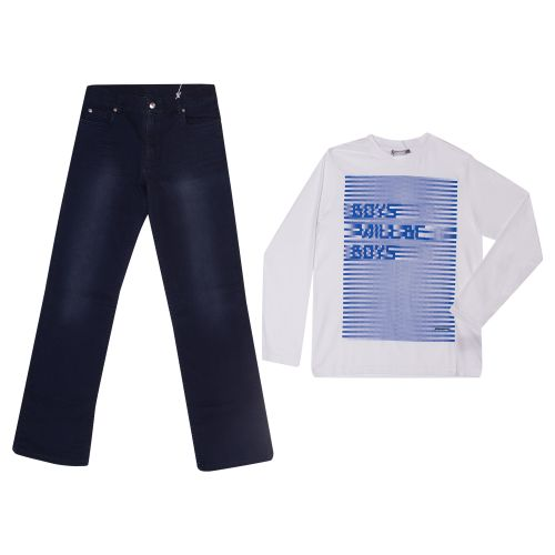 "Blue ""Boys will be Boys"" Long Sleeve Shirt and Pants"
